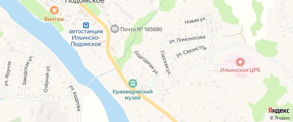 Подгорная улица на карте Ильинско-Подомского села с номерами домов