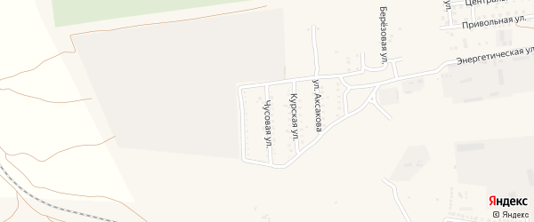 Чусовая улица на карте села Солянки с номерами домов