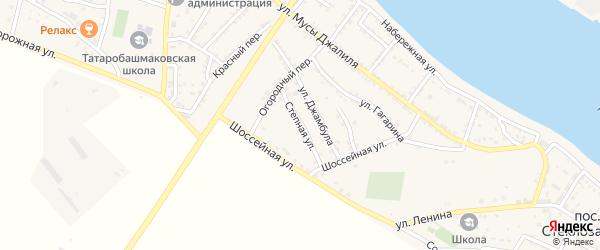 Степная улица на карте села Татарской Башмаковки с номерами домов