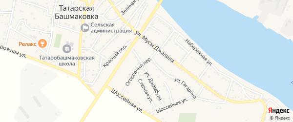 Огородный переулок на карте села Татарской Башмаковки с номерами домов