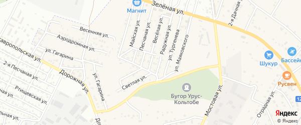 Улица Волынского на карте села Карагали с номерами домов
