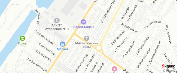 Северная улица на карте Астрахани с номерами домов