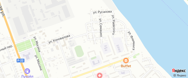 Переулок Чкалова на карте Астрахани с номерами домов