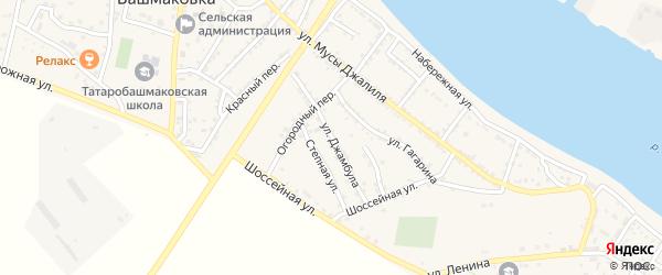 Улица Джамбула на карте села Татарской Башмаковки с номерами домов