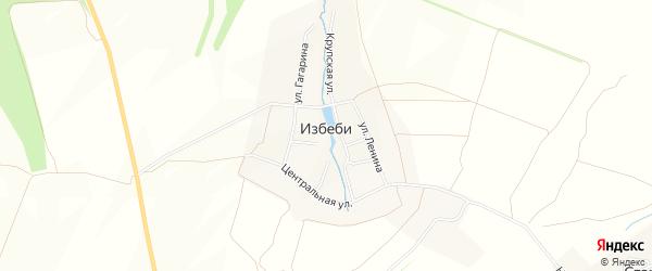 Карта деревни Избеби в Чувашии с улицами и номерами домов