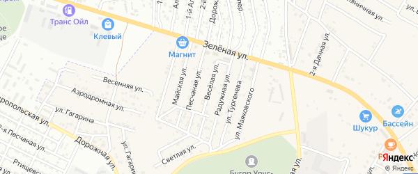 Веселая улица на карте села Карагали с номерами домов