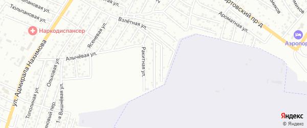Яблоневая улица на карте Астрахани с номерами домов