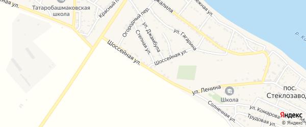 Шоссейная улица на карте села Татарской Башмаковки с номерами домов