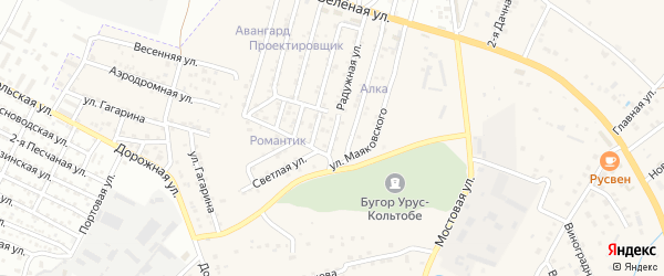 Улица Дружбы народов на карте села Карагали с номерами домов