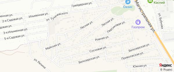 Радужная улица на карте Астрахани с номерами домов