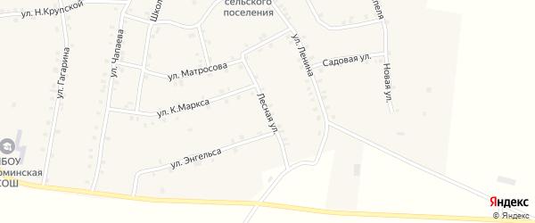 Лесная улица на карте села Мусирмы с номерами домов