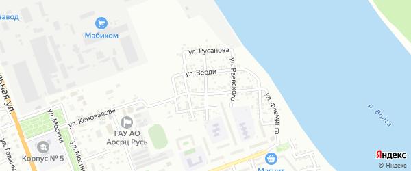 Улица Семашко на карте Астрахани с номерами домов