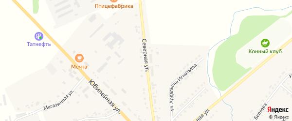 Северная улица на карте села Яльчиков с номерами домов