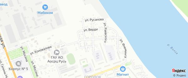 Улица Всеволода Иванова на карте Астрахани с номерами домов