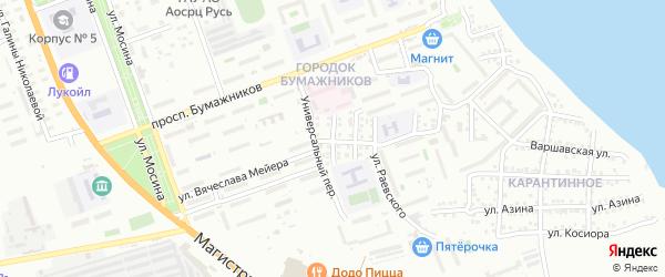 Шахтинская улица на карте Астрахани с номерами домов