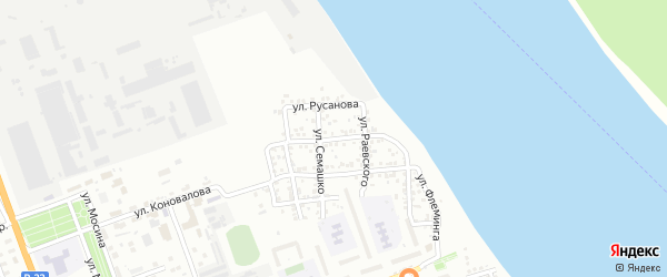 Улица Джузеппе Верди на карте Астрахани с номерами домов