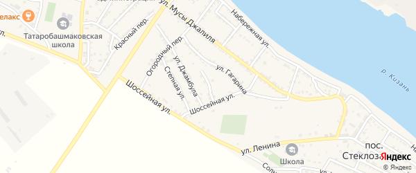 Переулок Героев на карте села Татарской Башмаковки с номерами домов