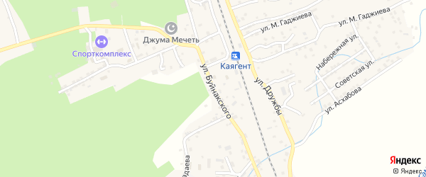 Улица Буйнакского на карте села Новокаякента с номерами домов