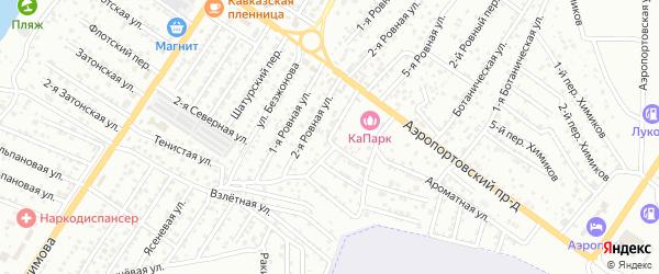 Ровная 4-я улица на карте Астрахани с номерами домов