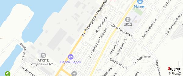 Улица Кулибина на карте Астрахани с номерами домов