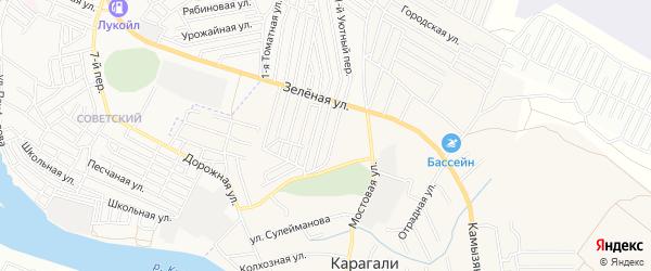 ГСК сдт Алка на карте села Карагали с номерами домов