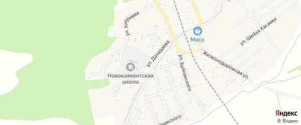Улица Дахадаева на карте села Новокаякента с номерами домов