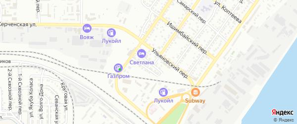 Медногорский 1-й переулок на карте Астрахани с номерами домов