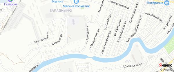 Улица Мичурина на карте Астрахани с номерами домов