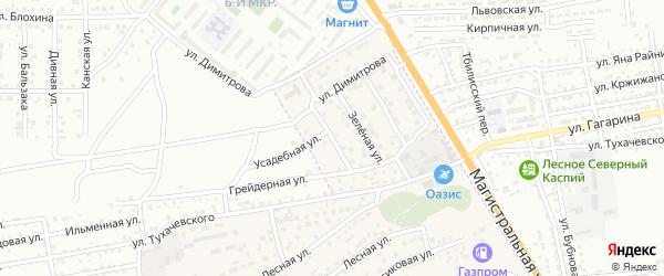 Тенистая улица на карте села Солянки с номерами домов