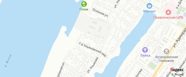 Ульяновский 6-й переулок на карте Астрахани с номерами домов