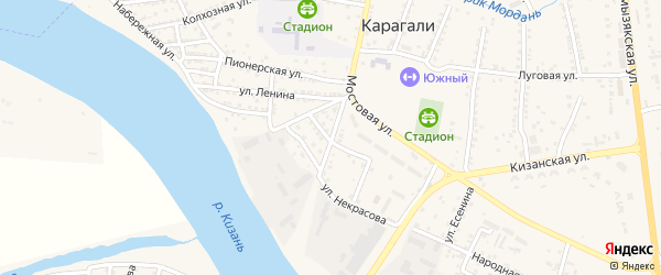 Паромная улица на карте села Карагали с номерами домов