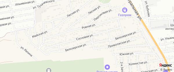 Сосновая улица на карте села Солянки с номерами домов