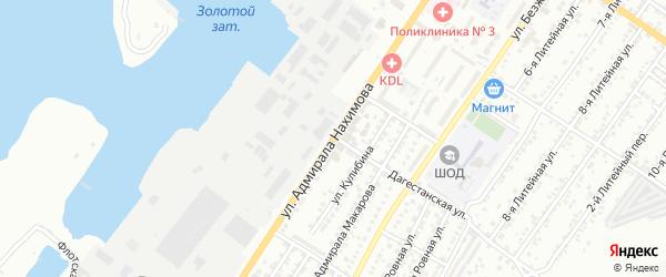 Улица Адмирала Нахимова на карте Астрахани с номерами домов