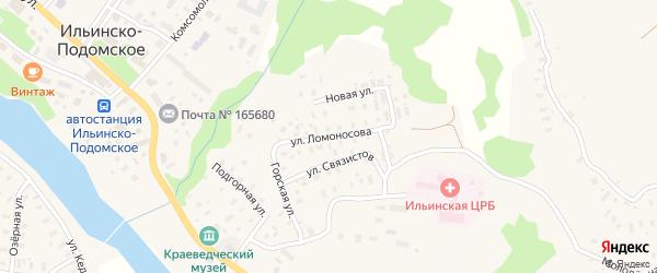 Улица Ломоносова на карте Ильинско-Подомского села с номерами домов