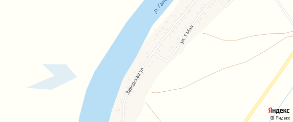 Заводская улица на карте села Образцово-Травино с номерами домов