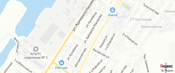 Улица Адмирала Макарова на карте Астрахани с номерами домов