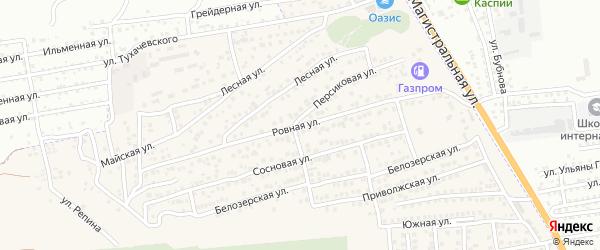 Ровная улица на карте села Солянки с номерами домов
