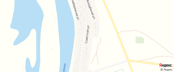 Советская улица на карте села Иванчуга с номерами домов