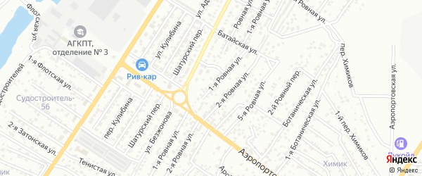 Ровная 1-я улица на карте Астрахани с номерами домов