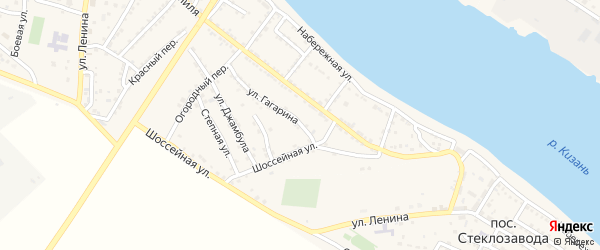 Улица Гагарина на карте села Татарской Башмаковки с номерами домов