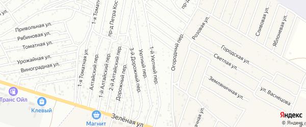 Виноградная 1-я улица на карте Астрахани с номерами домов