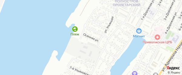 Осенняя улица на карте Астрахани с номерами домов