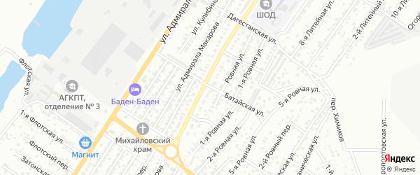 Батайская улица на карте Астрахани с номерами домов