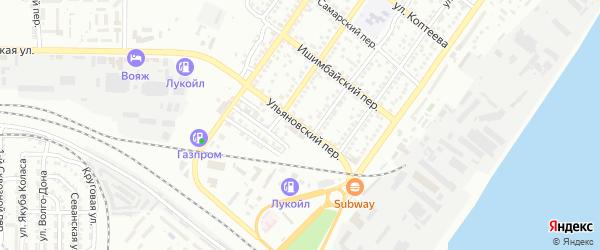 Ульяновский 14-й переулок на карте Астрахани с номерами домов