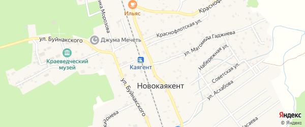 Улица Электросети на карте села Новокаякента с номерами домов