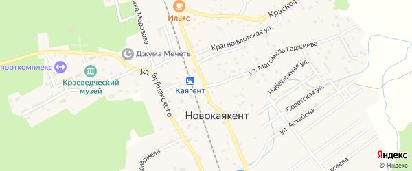 Улица Нефтяников на карте села Новокаякента с номерами домов