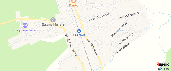 Улица Дружбы на карте села Новокаякента с номерами домов