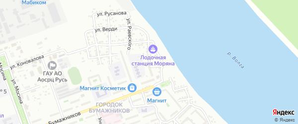 Улица Железнякова на карте Астрахани с номерами домов