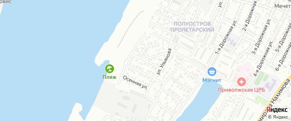 Архитектурная улица на карте Астрахани с номерами домов