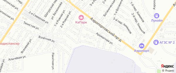 Ароматный переулок на карте Астрахани с номерами домов